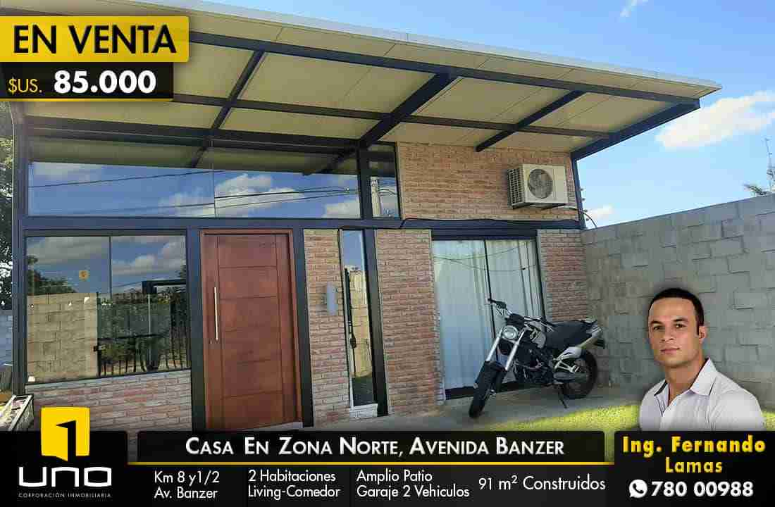 Casa en Venta, Zona Norte, Avenida Banzer, Santa Cruz.