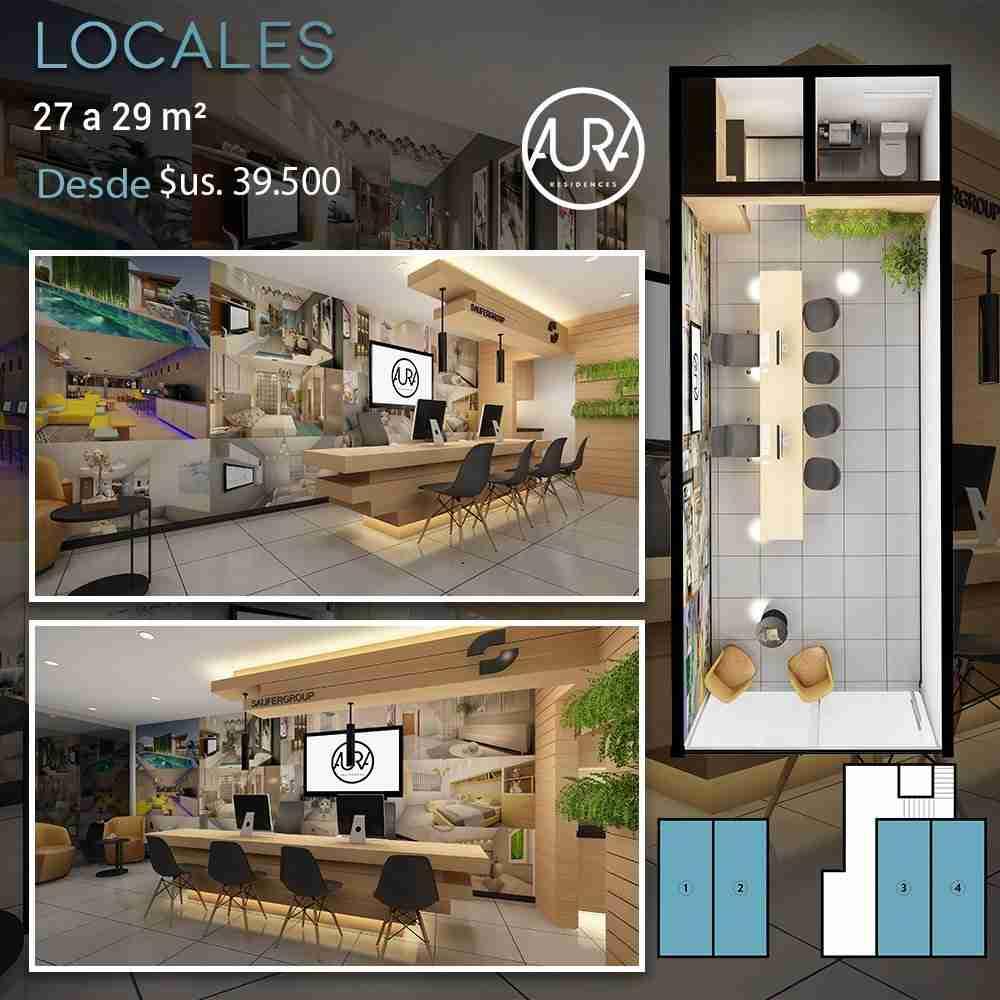 12 Locales Comerciales , Edificio Aura Residences, Barrio Equipetrol Norte, Santa Cruz, Bolivia