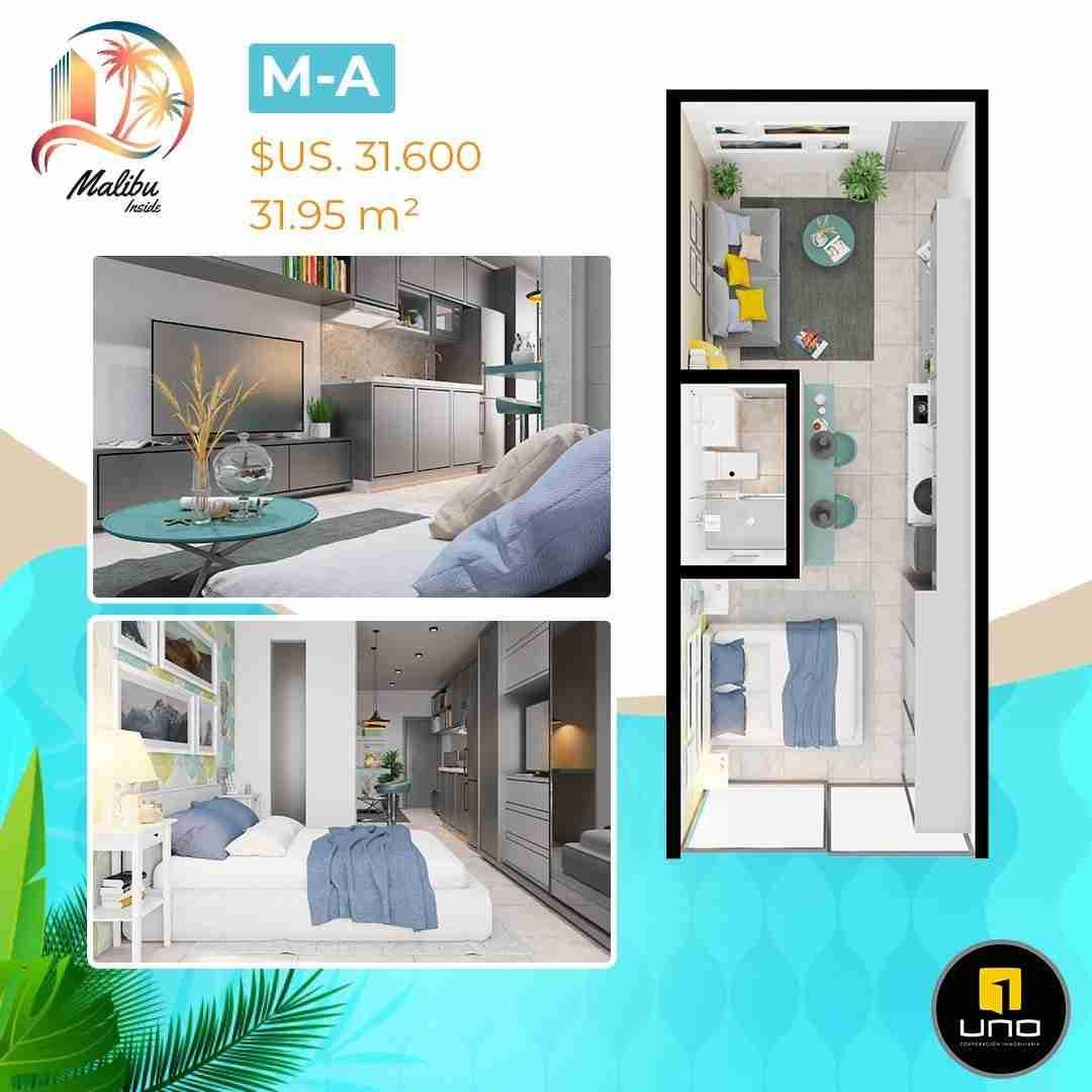 Departamentos en PreVenta Monoambientes, de 1, 2 y 3 dormitorios en Edificio Malibu Inside, zona Norte,Equipetrol, Santa Cruz, Bolivia (11)