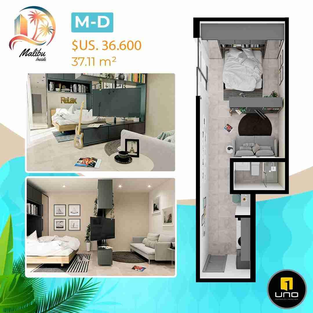 Departamentos en PreVenta Monoambientes, de 1, 2 y 3 dormitorios en Edificio Malibu Inside, zona Norte,Equipetrol, Santa Cruz, Bolivia (15)
