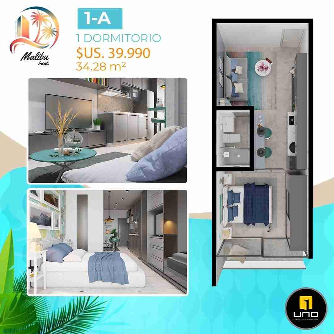 Departamentos en PreVenta Monoambientes, de 1, 2 y 3 dormitorios en Edificio Malibu Inside, zona Norte,Equipetrol, Santa Cruz, Bolivia (16)