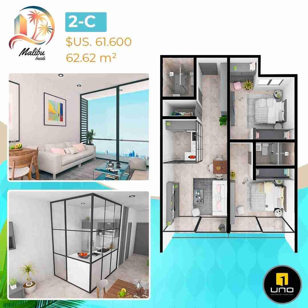Departamentos en PreVenta Monoambientes, de 1, 2 y 3 dormitorios en Edificio Malibu Inside, zona Norte,Equipetrol, Santa Cruz, Bolivia (18)