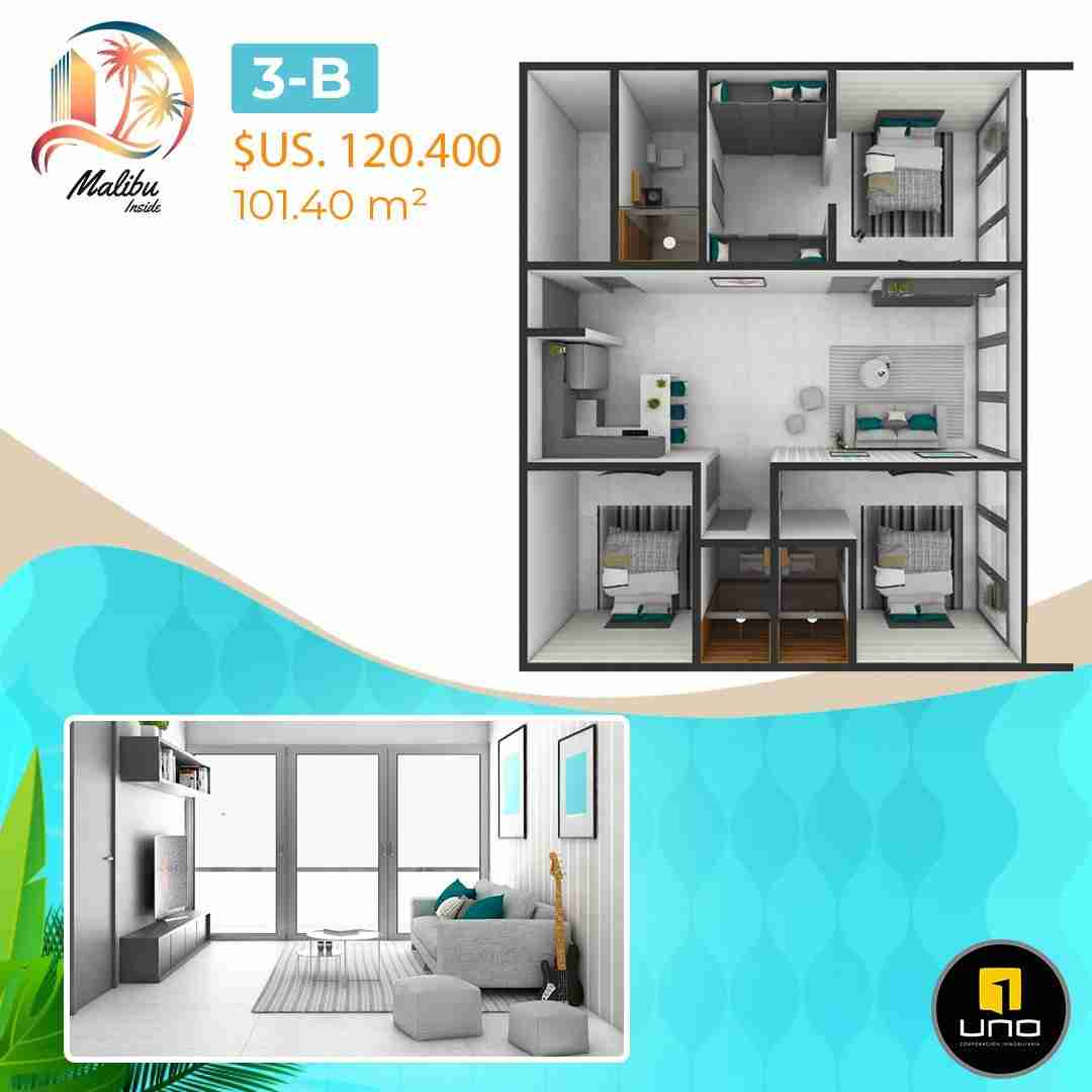 Departamentos en PreVenta Monoambientes, de 1, 2 y 3 dormitorios en Edificio Malibu Inside, zona Norte,Equipetrol, Santa Cruz, Bolivia (20)