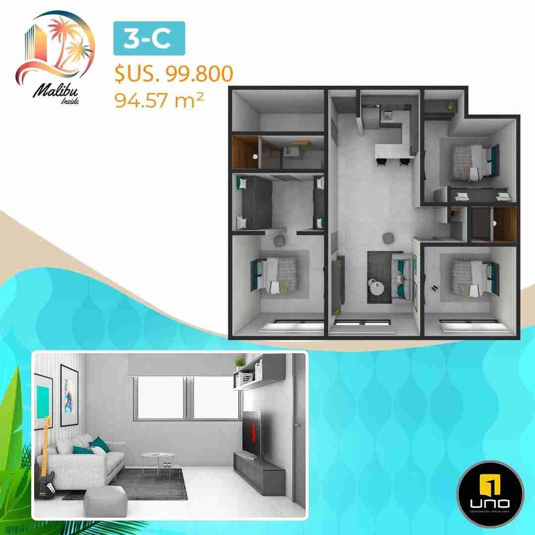 Departamentos en PreVenta Monoambientes, de 1, 2 y 3 dormitorios en Edificio Malibu Inside, zona Norte,Equipetrol, Santa Cruz, Bolivia (21)