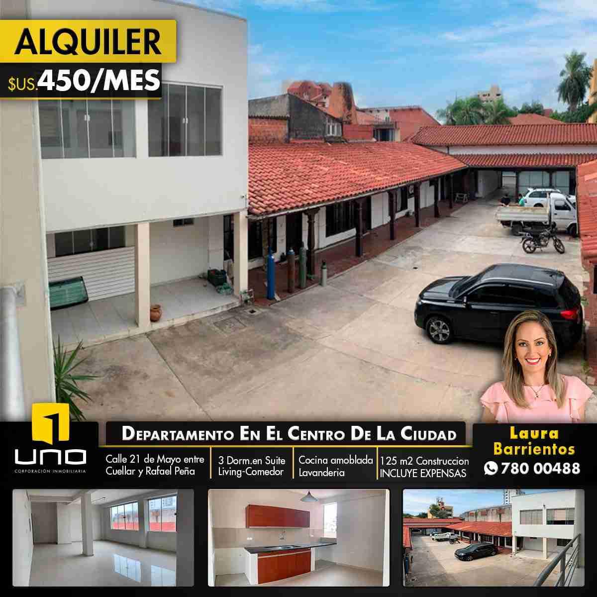 DEPARTAMENTO DE 3 DORMITORIOS EN ALQUILER EN EL CENTRO DE LA CIUDAD, ideal para vivienda o negocio