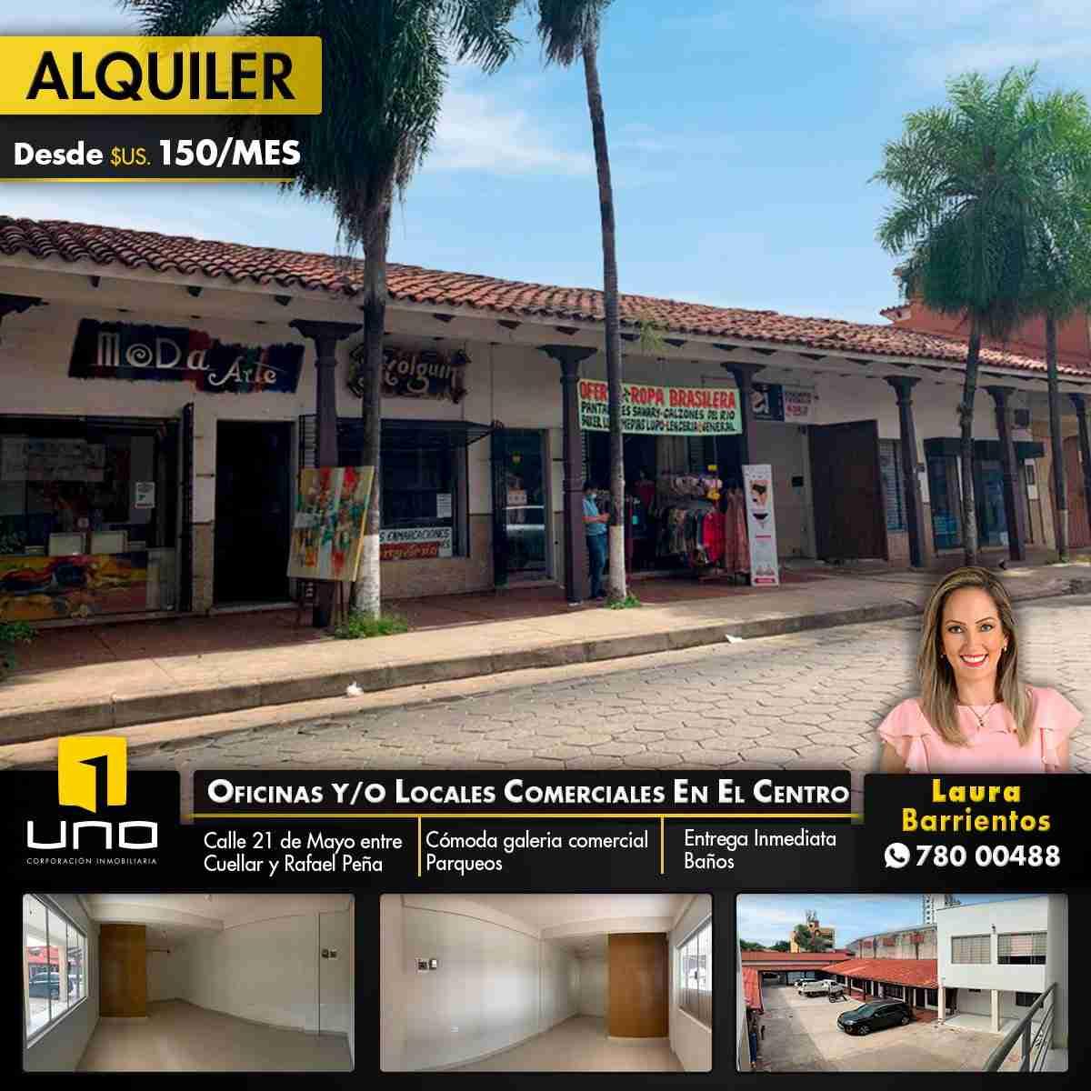 OFICINAS y/o LOCALES COMERCIALES EN ALQUILER EN EL CENTRO DE LA CIUDAD