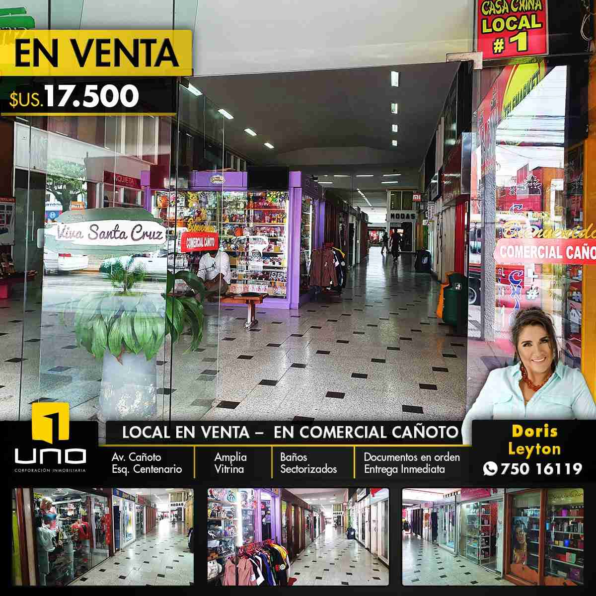 LOCAL COMERCIAL EN VENTA – CENTRO COMERCIAL CAÑOTO