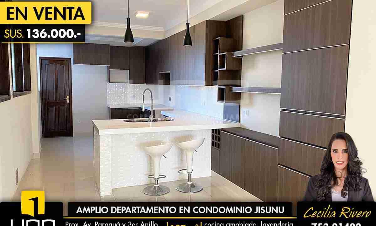 Departamento en venta Av. Paraguá Condominio Jisunú 1