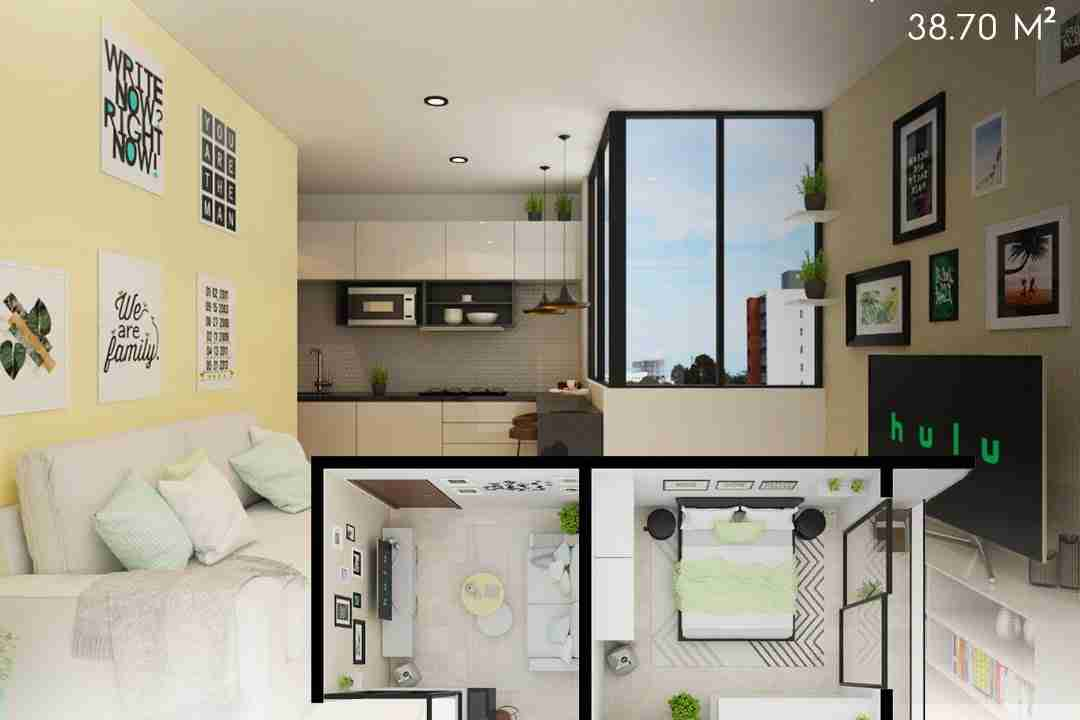 PreVenta Departamentos Monoambiente, 1 y 2 y 3 Dormitorios y Locales Comerciales Edificio Blue Box, Av Banzer, Zona Norte (13)