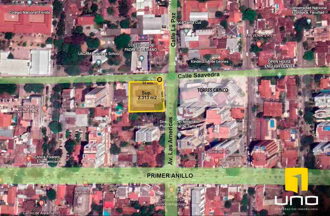 Venta terreno en equina frente a Torres Cainco, ideal para inversion, Santa Cruz, Bolivia (3)