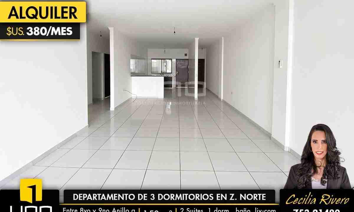 Departamento de 3 dormitorios en zona norte 0