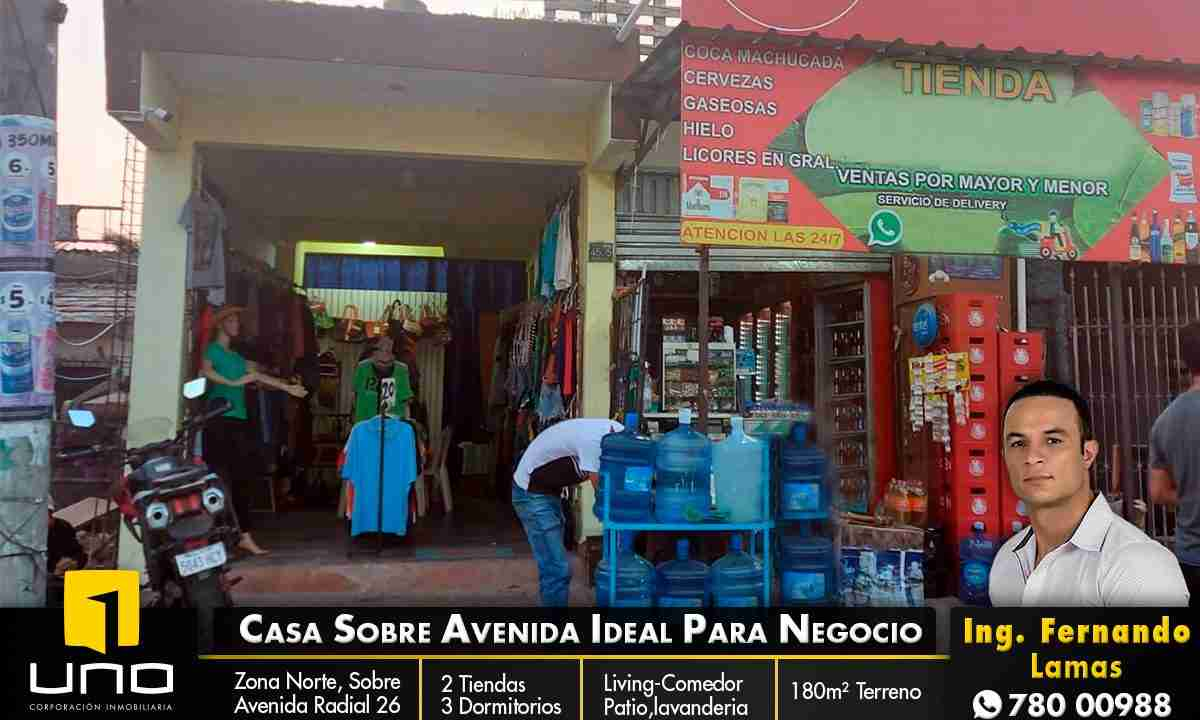 Venta de casa para negocio sobre avenida radial 26, zona norte, Santa Cruz, Bolivia (1)