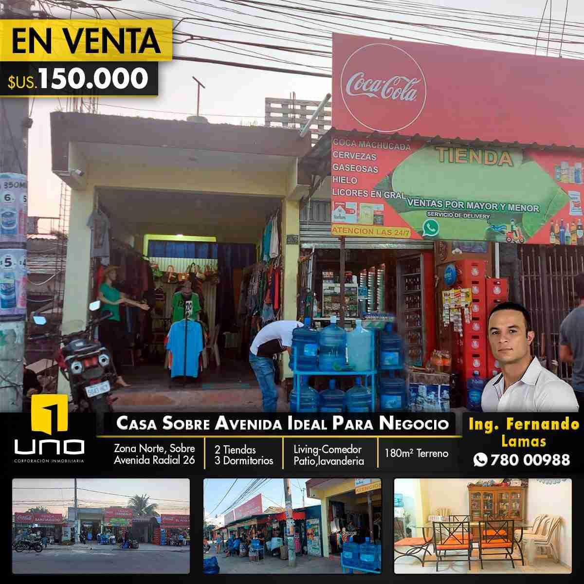 VENTA DE CASA SOBRE AVENIDA RADIAL 26, IDEAL PARA NEGOCIO O VIVIENDA
