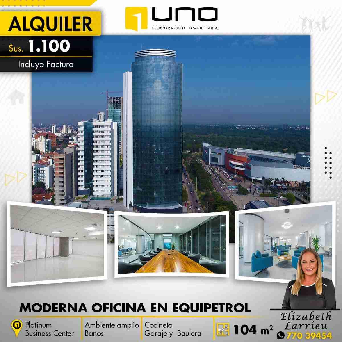MODERNA Y LUJOSA OFICINA EN EQUIPETROL PLATINUM BUSINESS CENTER