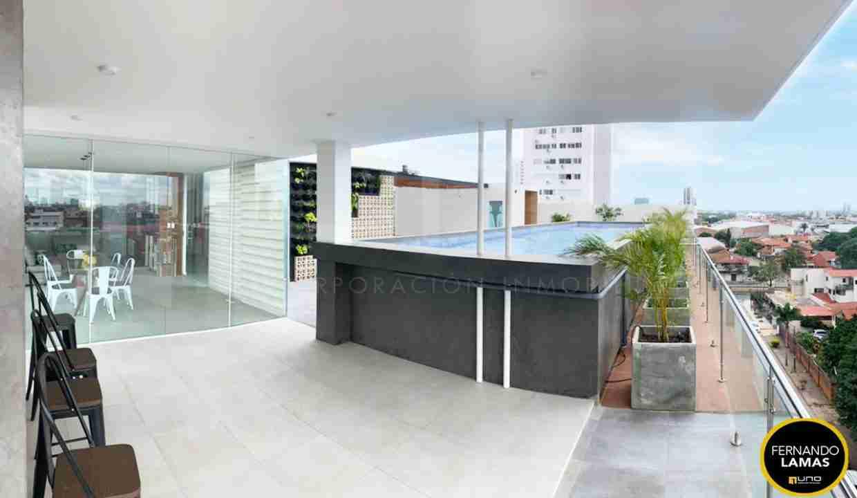 Venta de departamento de 2 dormitorios en Edificio Orange Residence, Zona Norte, Avenida Beni y Avenida Los Cusis, Calle los Pitones, Santa Cruz, Bolivia. (15)